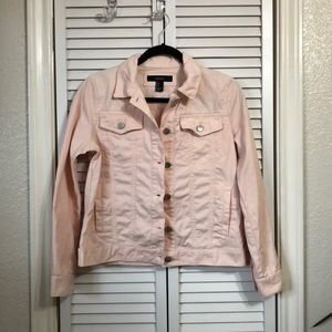 Pink Button Down Jacket
